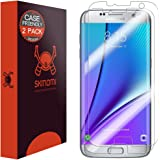 Galaxy S7 Edge Screen Protector, Skinomi TechSkin (2-Pack,Case Friendly) Full Coverage Screen Protector for Galaxy S7 Edge Clear HD Anti-Bubble Film - with Lifetime Warranty