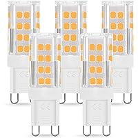 Bombilla LED G9 de 4W Equivalente a 40W Lampara Halógena, Blancas Cálidas(3000K), 400LM, No regulable, Sin parpadeo, Sin…