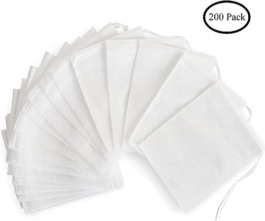Amazon.com: Bolsas de filtro de té, bolsas de té desechables ...