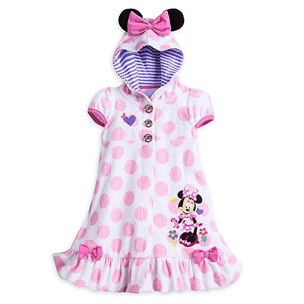 87a9210130 Amazon.com: Disney Store Minnie Mouse Swimsuit Cover Up Polkadot With Ears  Small 5 - 6 5T: Clothing