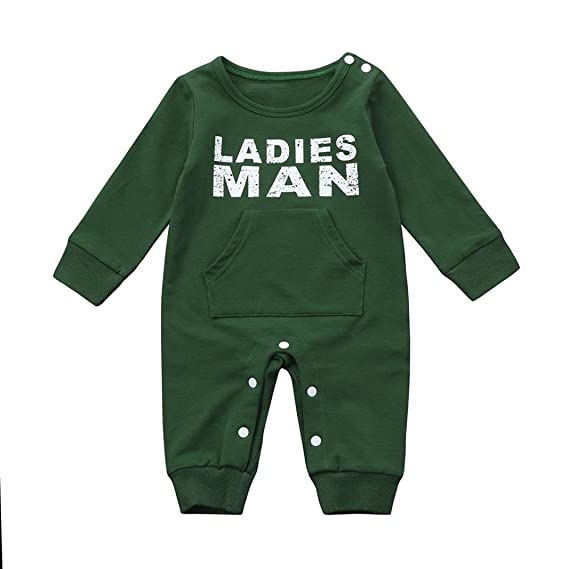 4d85c345bdbd Amazon.com  Clearance Sale Newborn Infant Baby Boys Winter Clothes Fashion  Long Sleeve Jumpsuit Romper Outfit  Clothing