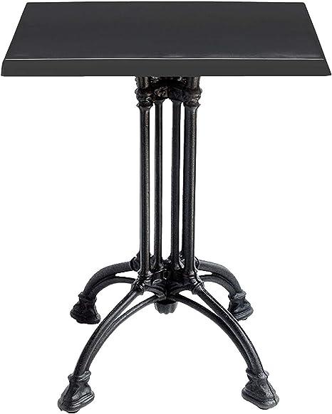 Mesa de hierro fundido de 4 patas – tablero cuadrado 70 x 70 ...