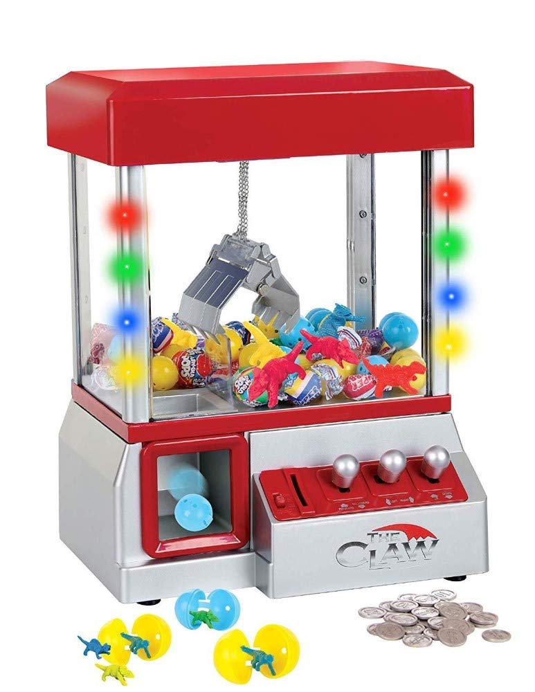 Snow Shop Everything Funny and Exciting Electronic Carnival Claw Game Mini Arcade Grabber Crane Machine 2019 Model RED + 24 Toys by Snow Shop Everything (Image #5)