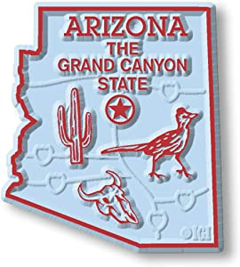 Arizona State Map Magnet