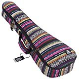 Ukulele Case Soprano Size Aymara 8 Official Colors Double woven carry handle Adjustable backpack straps Ultra Thick Padding with Enhanced Glide Zipper