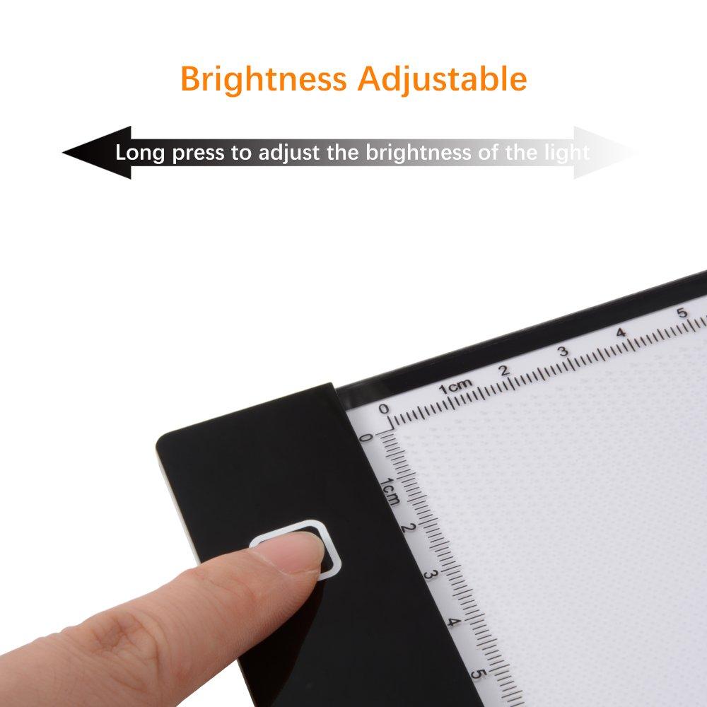 XCSOURCE Ultra d/ünnes DIN A4 gro/ße LED Licht-Box K/ünstler Zeichner Zeichentablett Durchpausen Drawing Board Schreibtafel Tattoo Kopieren Table Pad mit einstellbarer Helligkeit XC701
