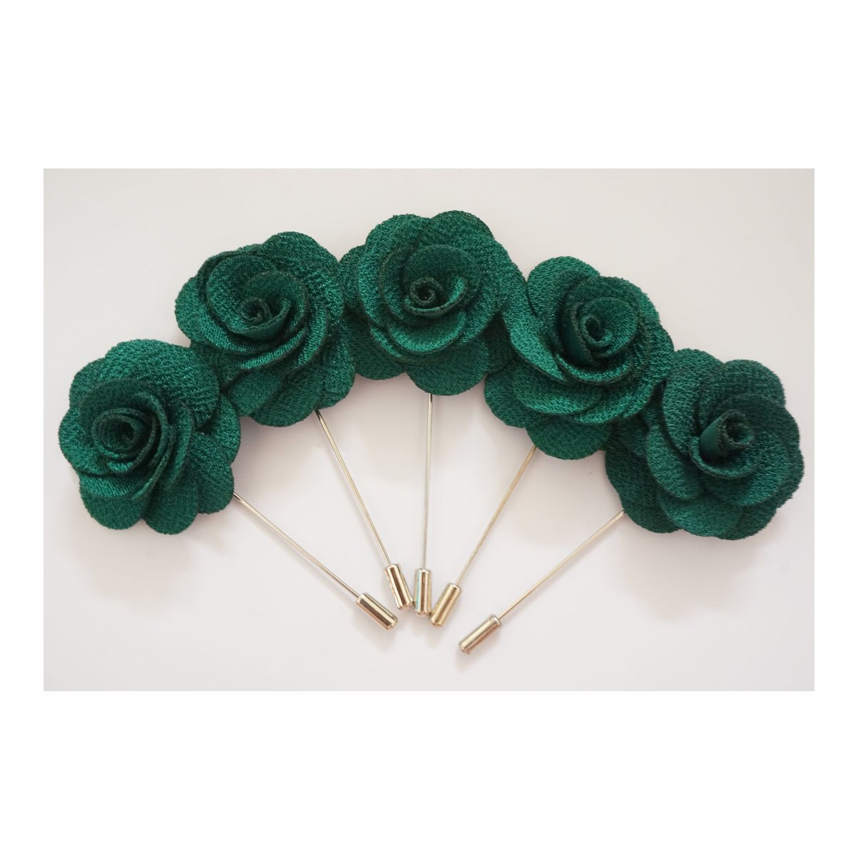Sunny Home 5pcs Men's Lapel Flower Stick Brooch Pin Boutonniere for Suit (Black)