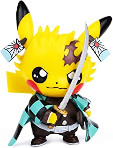 Demon Slayer Figures Pikachu Cosplay Kamado Tanjirou Figure Statues Kimetsu no Yaiba Collection Birthday Gifts PVC 3.5