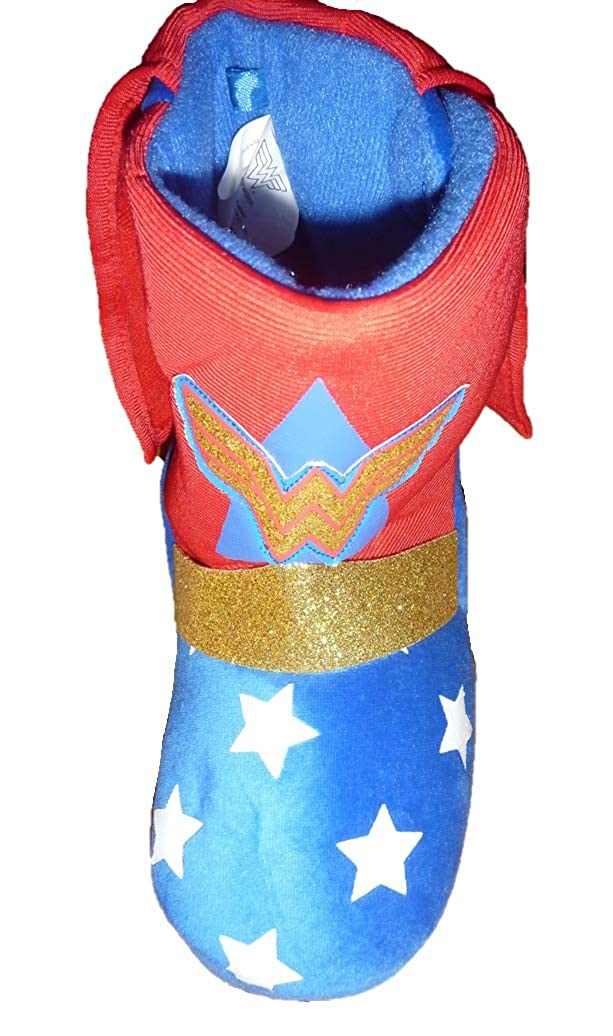 BBC Intl Toddler Girls Wonder Woman Caped Bootie Slippers