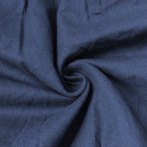 Elegante Mujer Sin Irregular Largo Vestido Verano Dress Azul Mangas Playa Cuello Shirt De T Minetom Camiseta Atractivo Redondo Casual Oscuro Fiesta Stxpw8qpd