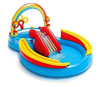Rainbow Ring Play Center, Bote De Natación con Flotador Inflable, Piscina para Niños con