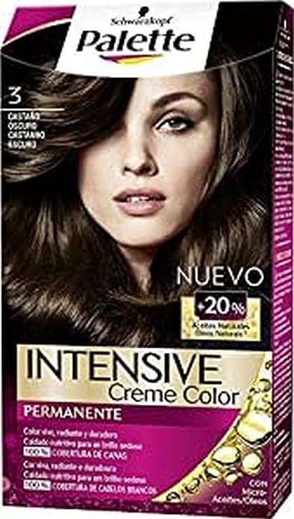 Schwarzkopf Palette Intense Coloración Permanente Tono 3 Castaño Oscuro - 1 ud de 115 ml