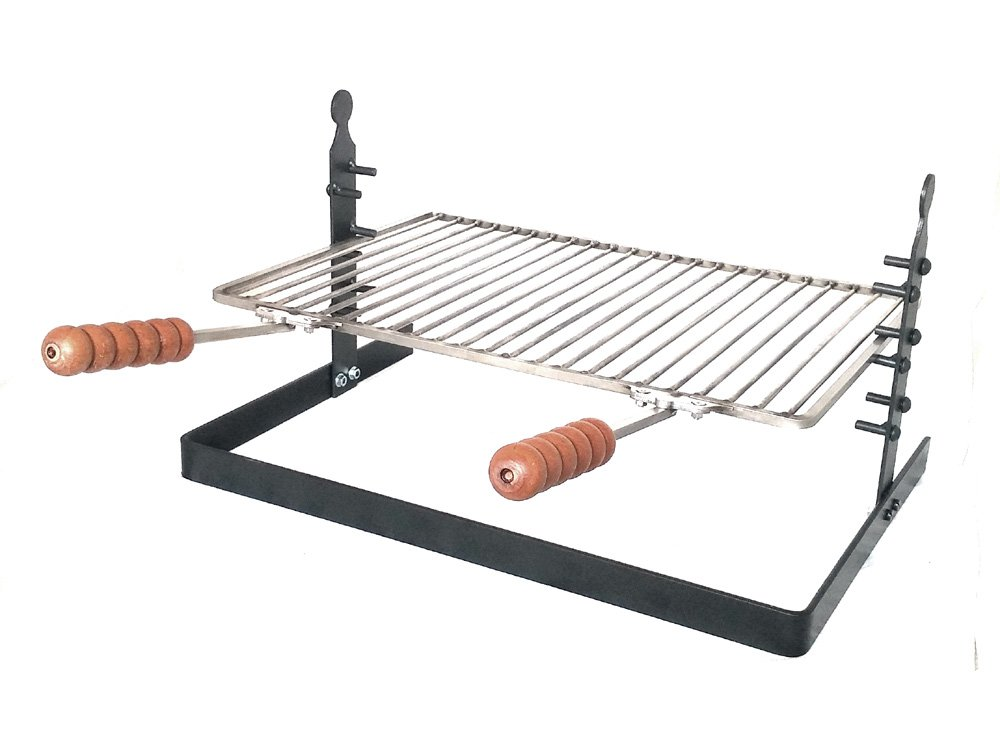 SpitJack Tuscan Adjustable Fireplace Grill & Camping Grill - Stainless by SpitJack