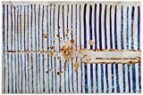 "Blue Stripes and Gold Burst Canvas Print, 36"" x 24"""