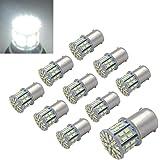 EverBrightt 10-Pack Warm White 1157 BAY15D 5050 27SMD LED Replacement Bulb Cornering Lamp Brake Light DC 12V