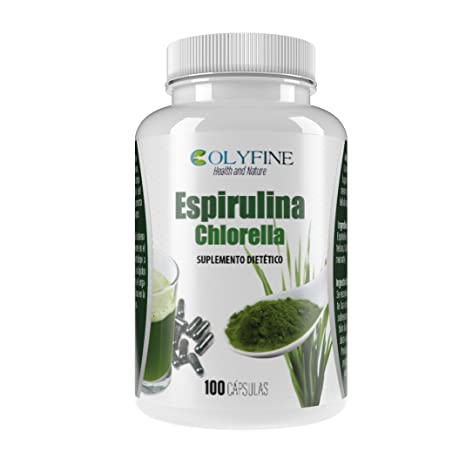 Espirulina Chlorella 100 Cápsulas