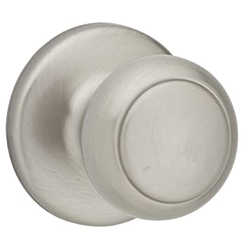 Kwikset Cove Hall/Closet Knob In Satin Nickel
