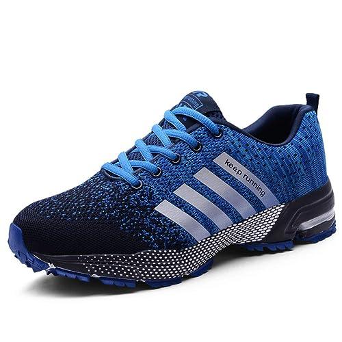 UBFEN Zapatillas de Running Padel para Hombres Zapatos Deportivas Gimnasio Correr Deportes de Exterior y Interior Fitness Casual Sneakers: Amazon.es: ...