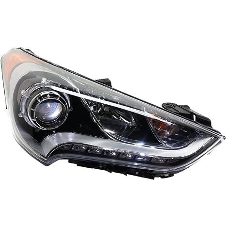 evan-fischer eva135052317407 Faro Delantero para Hyundai Veloster 12 – 16 derecha Asamblea Proyector tipo