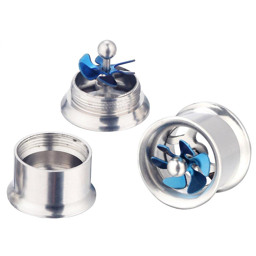 PHD LTD 6Pairs Mix Set Silicone Stainless Steel Stone Women Men Ear Tunnels Piercing Plugs Stretcher Expander Gauges Gauge 0g-5//8