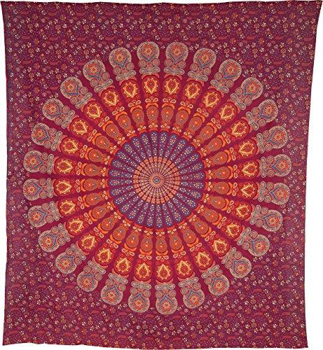 Bohemian Mandala Tapestry Bedspread Certified