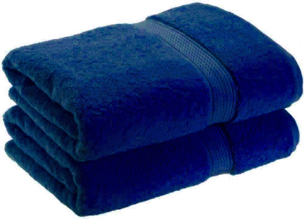 Nausha Pack of 2 Bath Sheets 100/% Egyptian Cotton 600 GSM Super Soft /& Quick Dry Bathroom Gift Royal Blue