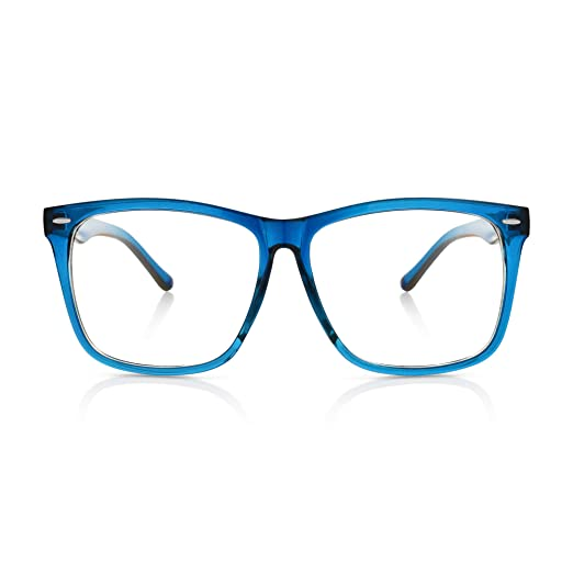 630528ba80f 5zero1 Fake Glasses Big Frame Clear For Women Men Fashion Classic Retro  Costumes Party Halloween