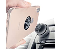 Universal Car Phone Mount Magnetic - All-Metal iPhone Car Mount for Any Smartphone or GPS - Truly One-Handed Cell Phone Holde