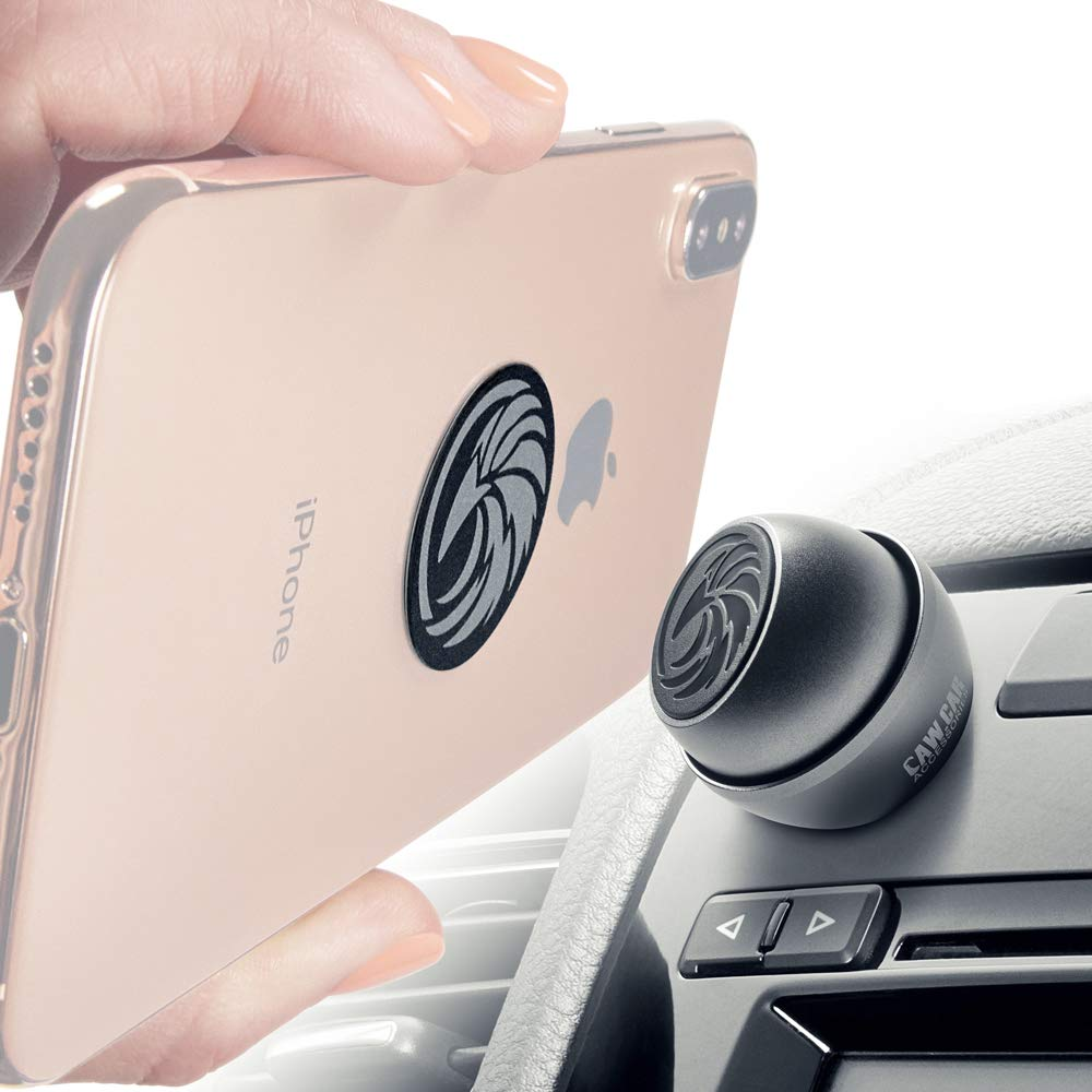 Universal Car Phone Mount Magnetic - Reliable iPhone Car Mount for Any Smartphone or GPS - Truly One-Handed Cell Phone Holder for Car Dashboard by CAW.CAR Accessories