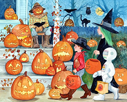 Vermont Christmas Company Jack-o'-Lanterns Halloween Jigsaw Puzzle 1000 Piece ()