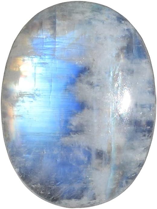 RAINBOW MOONSTONE 14 Ct Natural Rainbow Moonstone Blue Fire Pear Shape Size 17.5x11x9.5 MM Natural Rainbow high Quality Gemstone