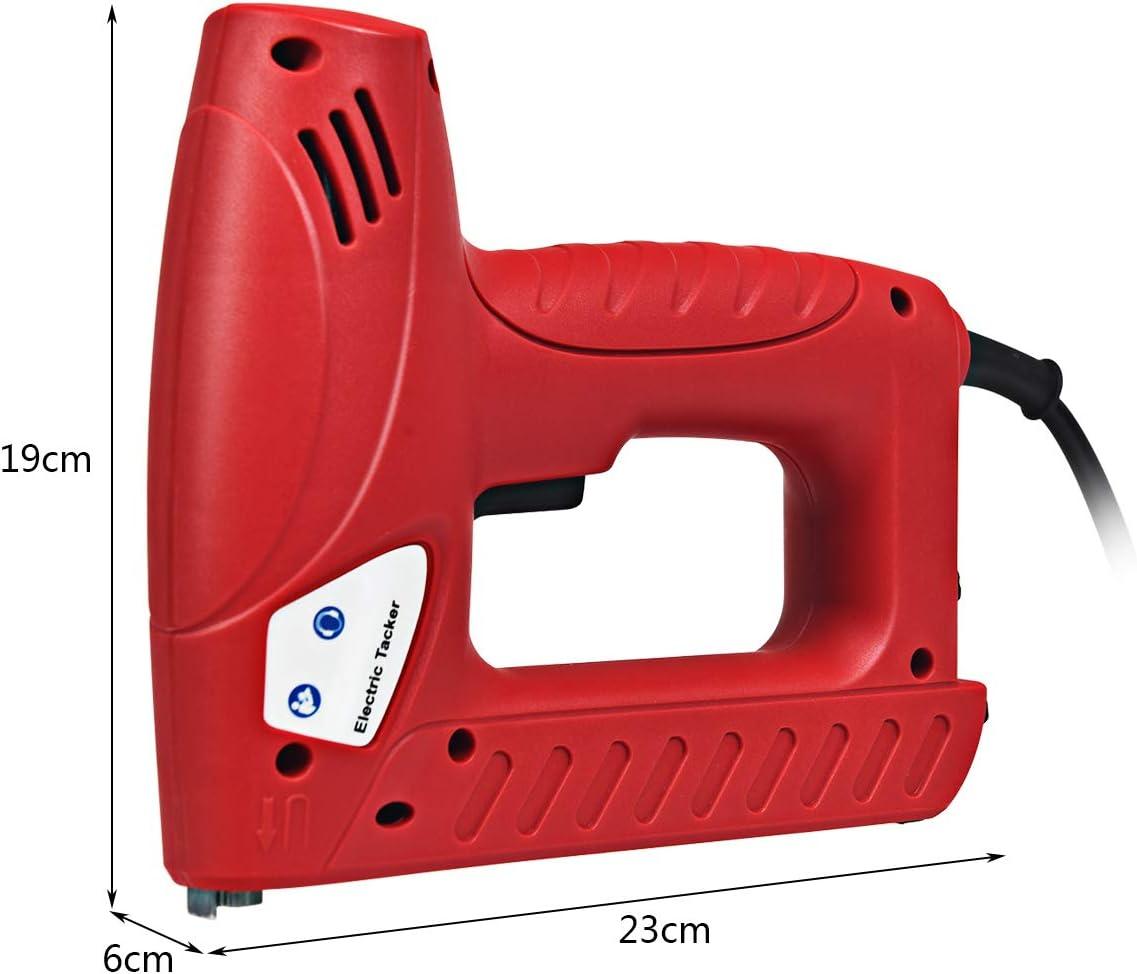 20 St/ück//Min COSTWAY 2-in-1 Elektrischer Tacker Nagler Elektrisches Nagelpistolen Kit mit 1200 Tackerklammern und 300 N/ägel