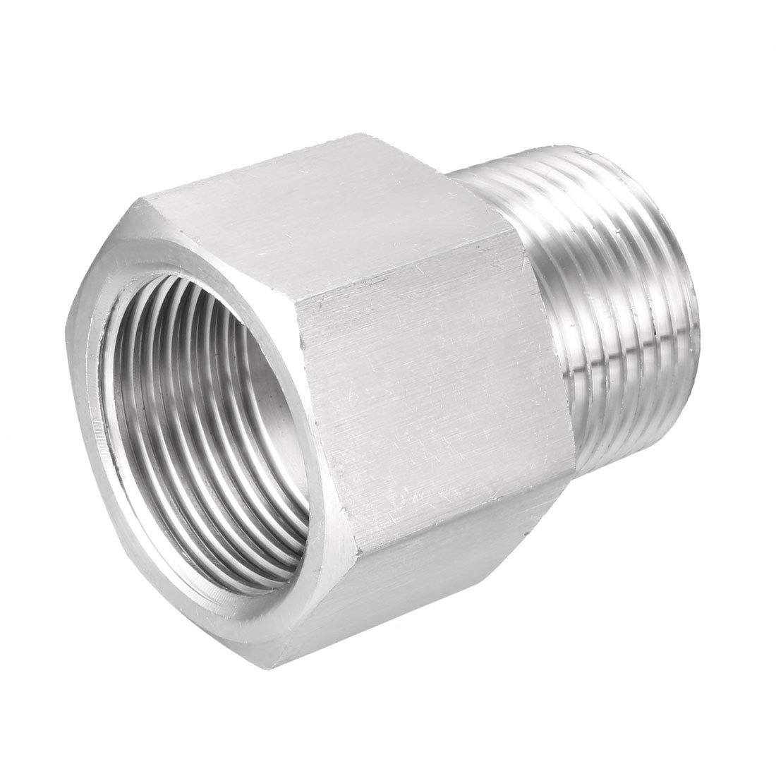 uxcell Pipe Fitting Adapter Reducing Coupling 1//8 NPT Male x 1//4 NPT Female