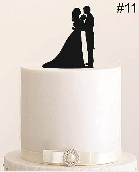 Tortenstecker Hochzeit Cake Topper Acrylglas Figur Torte FARBWAHL