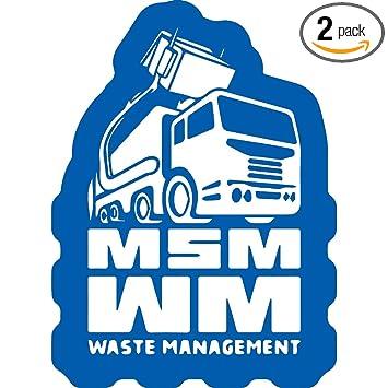 Amazon com: NBFU DECALS msm Waste Management PVC (Azure Blue