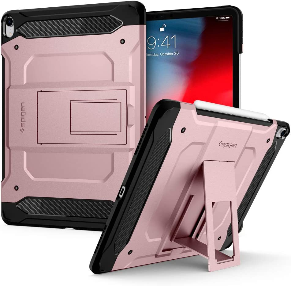 Spigen Tough Armor Tech Designed for iPad Pro 12.9 Case 2018 Rose Gold GIFT New