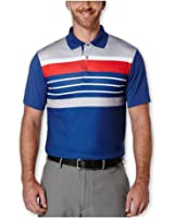 Pga Tour Mens Heathered Stripe Rugby Polo Shirt
