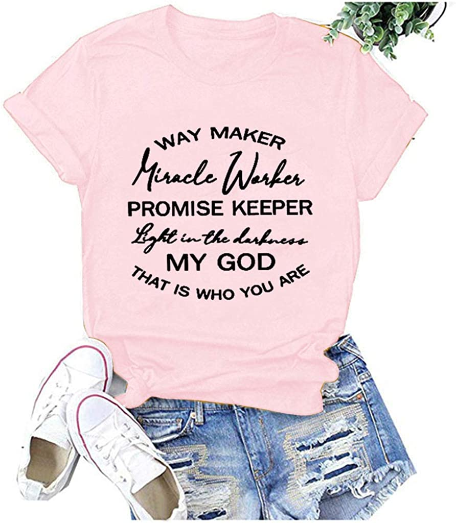 Winsummer Nursing is a Work of Heart T Shirt Womens Short Sleeve Nurse T-Shirt Summer Letter Print Graphic Tees Tops