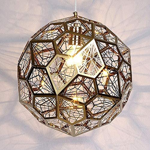 L.J.JZDY Chandelier Cafe Bar Bedroom Study Hallway Living Room Bedside Decorative Lamp for 5-15 Square Meters Hanging Light Color Gold, Size Diameter50