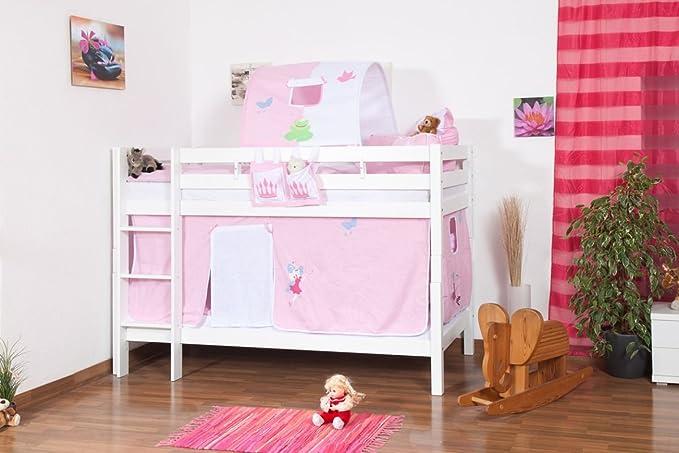 Etagenbett Wickey Crazy Trunky : Weißes etagenbett für kinder buche massiv cm teilbar auf