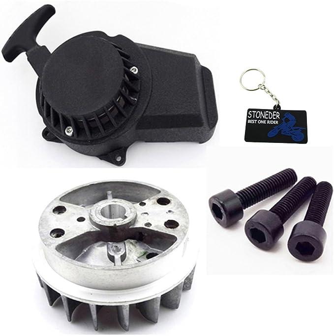 Stoneder Leichtgewichtiger Seilzugstarter Schwungrad Für 47cc 49cc Minimoto Pocket Bike Mini Dirt Bike Crosser Atv Auto