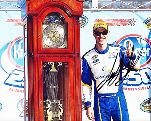Autographed 2015 Joey Logano  29 Cooper Standard Racing Martinsville Win  Grandfather Clock Victory Lane  Camping World Truck Series 8X10 Nascar Glossy Photo Picture With Coa