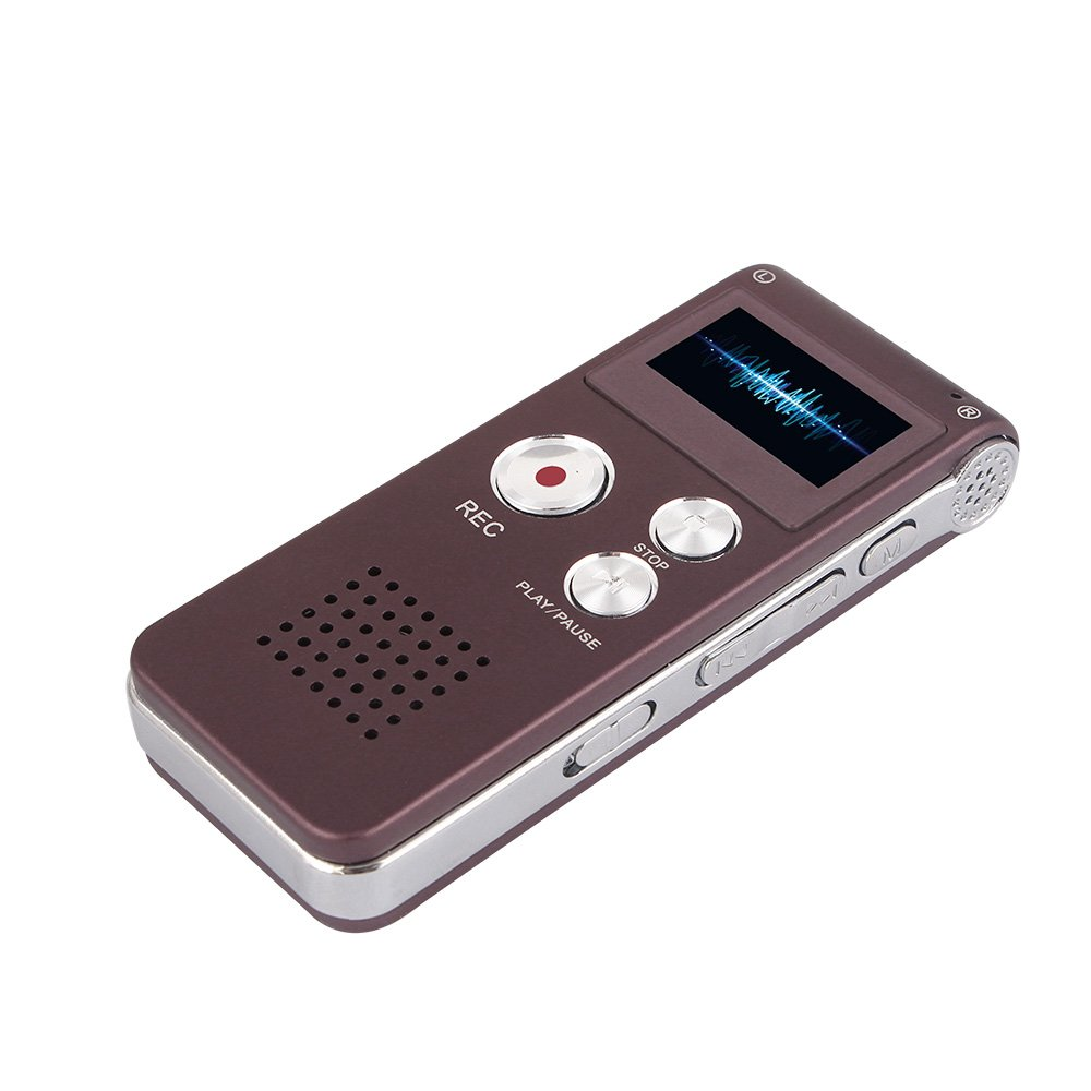 ACE DEAL Purple 4 Rechargeable and Multifunctional Digital Voice Recorder with Mini USB Port, MP3 Music Player & Dictaphone, With 8 GB Internal Memory Card