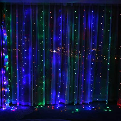 6M*3M 600 LED Waterproof Indoor Outdoor Curtain Fairy Lights Xmas Party Home Dec