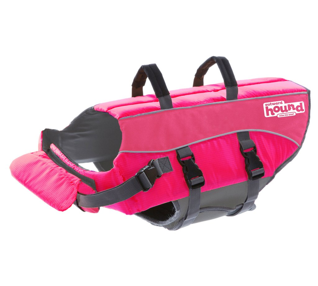 Outward Hound Ripstop Dog Life Jacket Pink SMALL