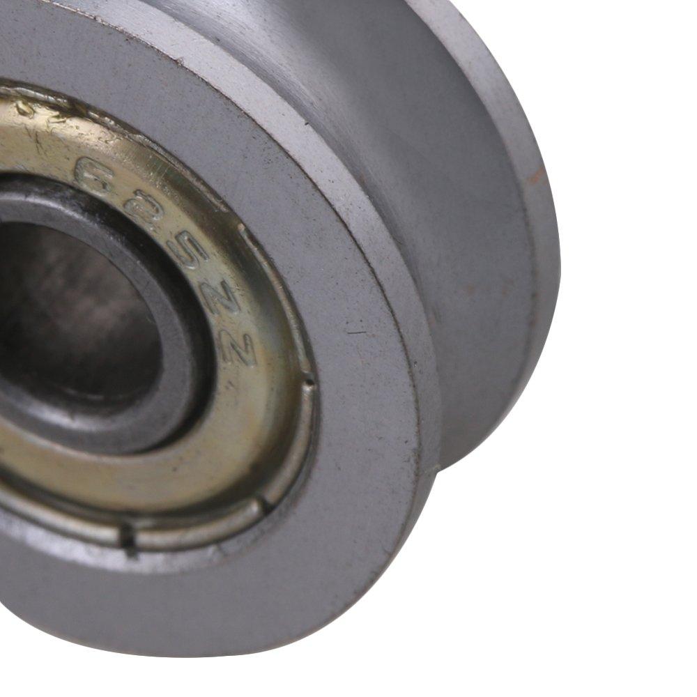cnbtr 2/4/x 18/x 7/mm U der versiegelte Kugellager Stahl 608/Umlenkrolle Schiene Kugellager Rolling Rad Silber
