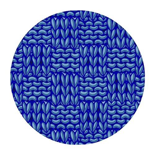 Wide Basketweave (Childcraft Basketweaves Carpet, 6 Feet, Round, Blue)