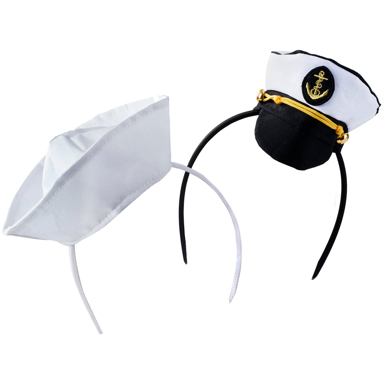 12 white sailor hats one dz hats fits kids and average adults by Unknown