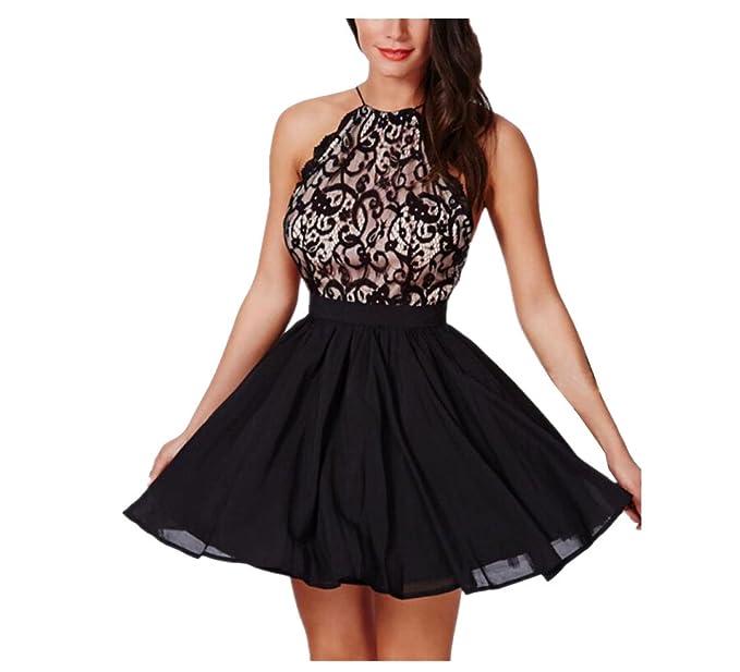 e0668022b832 K-youth® Vestido de Fiesta, Moda Vestido Corto de Mujer sin Espalda ...