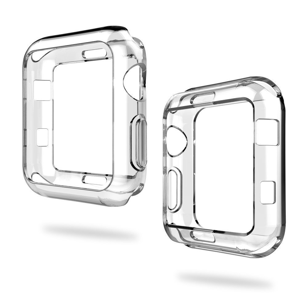 Saygogo Apple Watch Case 42mm Soft TPU Screen Protector All-Around Shell High Definition Clear Ultra-Thin Cover (HJ-WATCHCASE01)